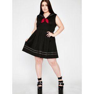 Jawbreaker Plus Sailor Goth Mini Dress Size: 2XL